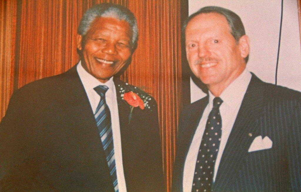 Picture of Talbot with Nelson Mandela